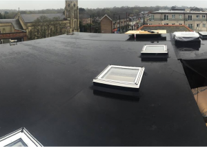 Commercial Flat Roofing with Firestone EPDM