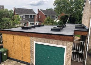 Flat Roof Garage Peterborough with Skylights