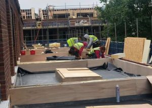 EPDM Rubber Roofs being installed in Cambridge today